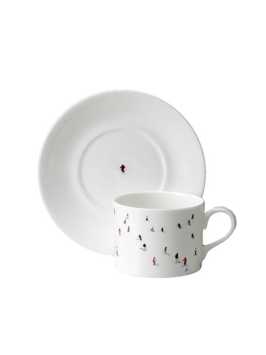 skier cup and saucer