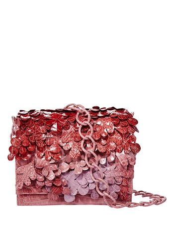 rose croc shoulder bag