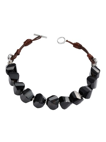 diade agate black necklace