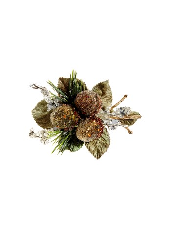 frosted acorn napkin ring