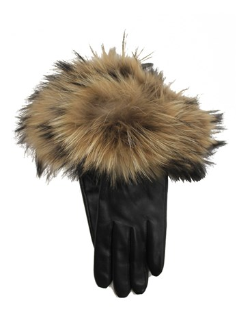 nappa/raccoon fur glove