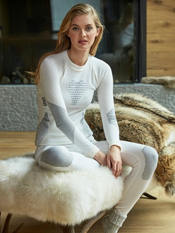 ladies fusyon wool compression top