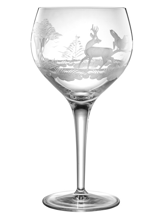stag red wine glass