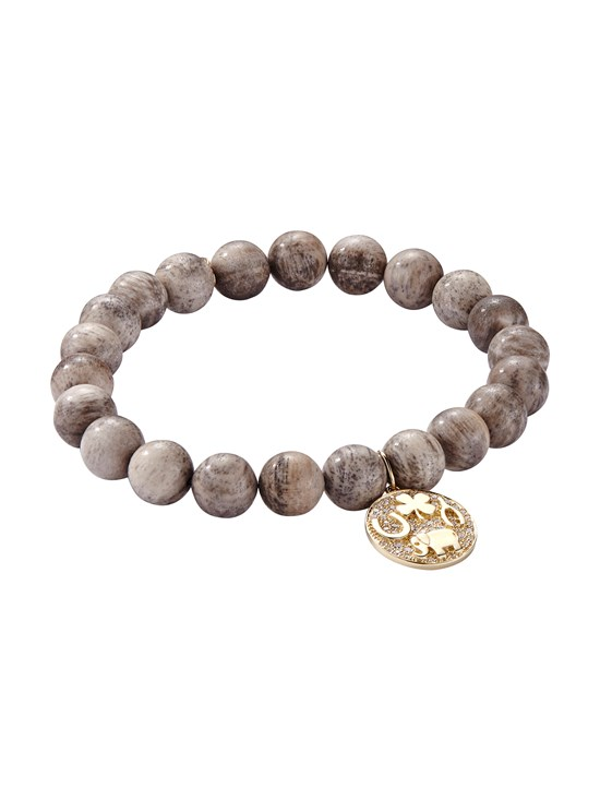 petrified wood luck tableau bracelet
