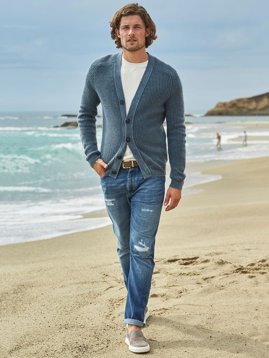 jason stonewashed cardigan