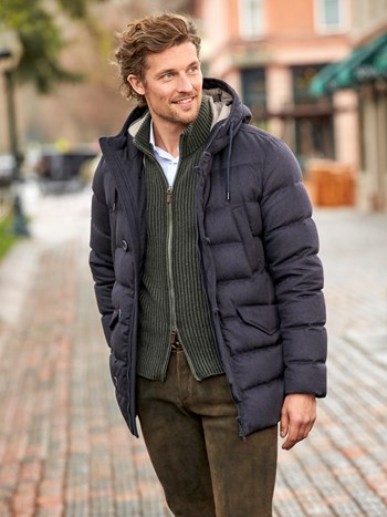 cashmere down jacket