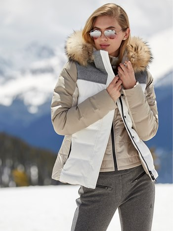 theia down ski jacket