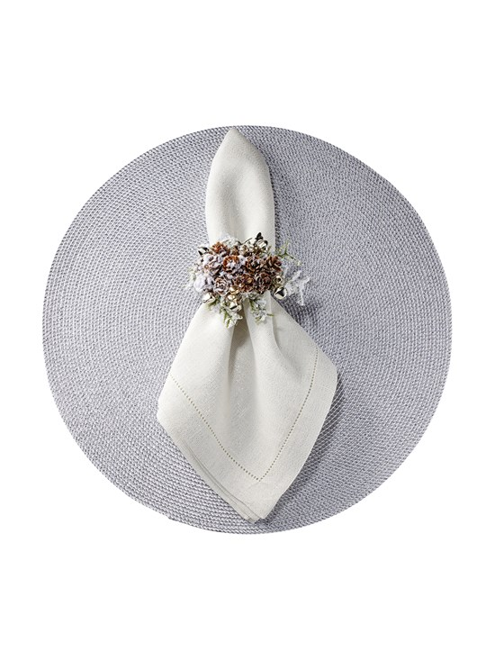 snowy cluster napkin ring