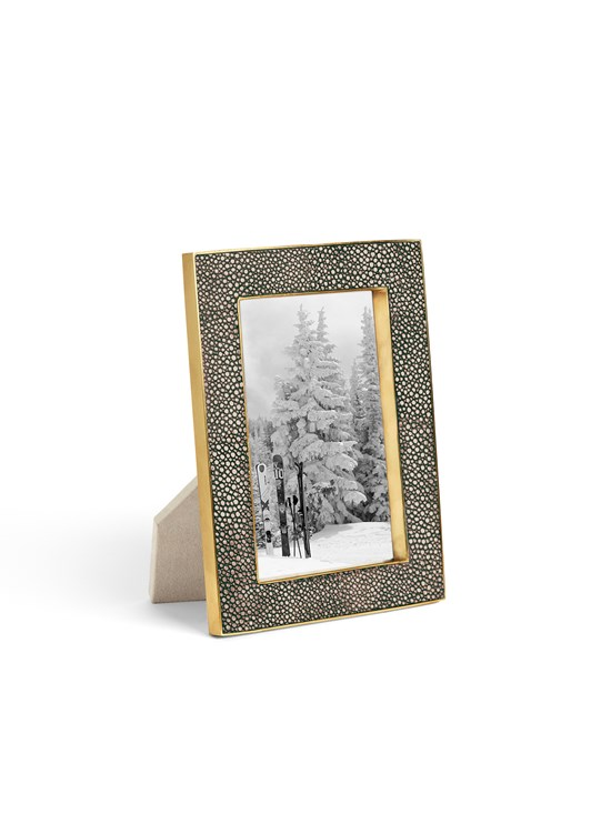 chocolate shagreen frame 4x6