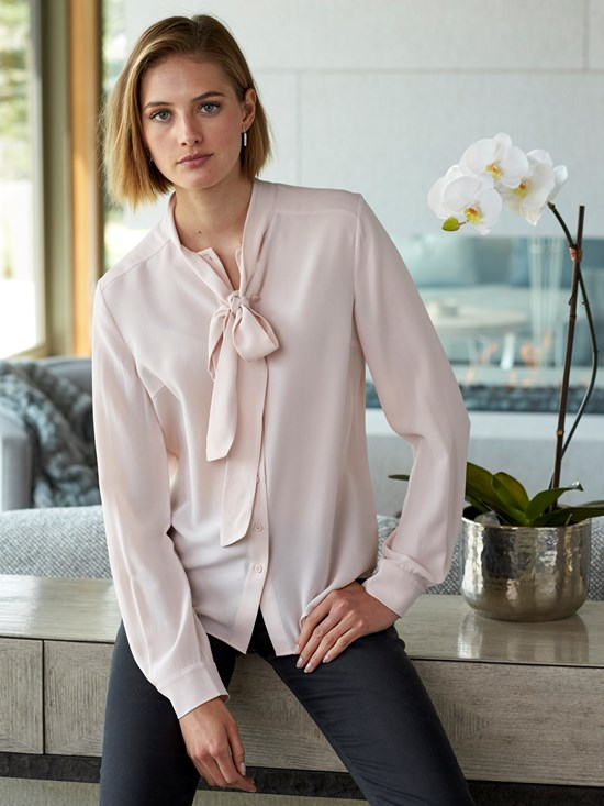 seattle silk crepe blouse