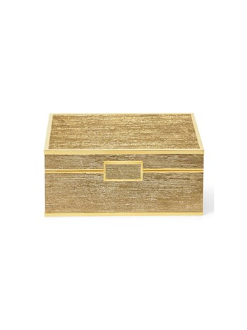 gold linen small jewelry box