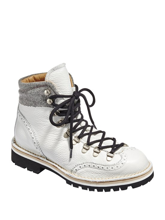 wingtip leather hiker boot