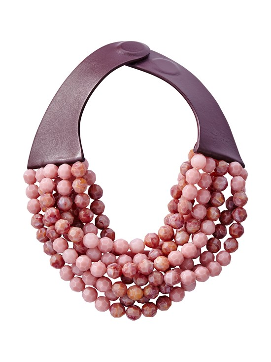 bella fall rose necklace