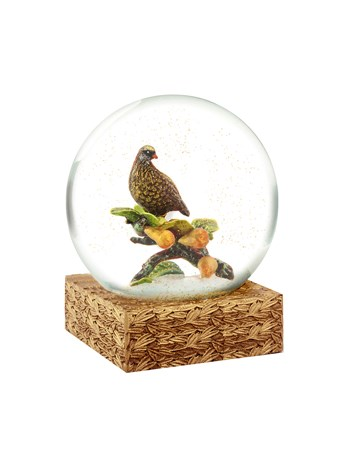 partridge and pear snow globe