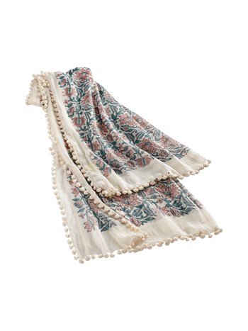 marie cotton silk scarf