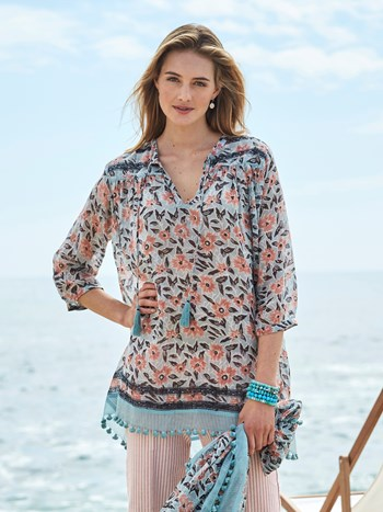 madelyn print tunic