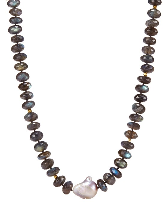 marta labradorite and pearl necklace