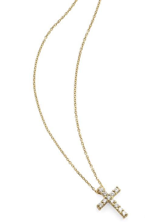 anelie simple cross necklace