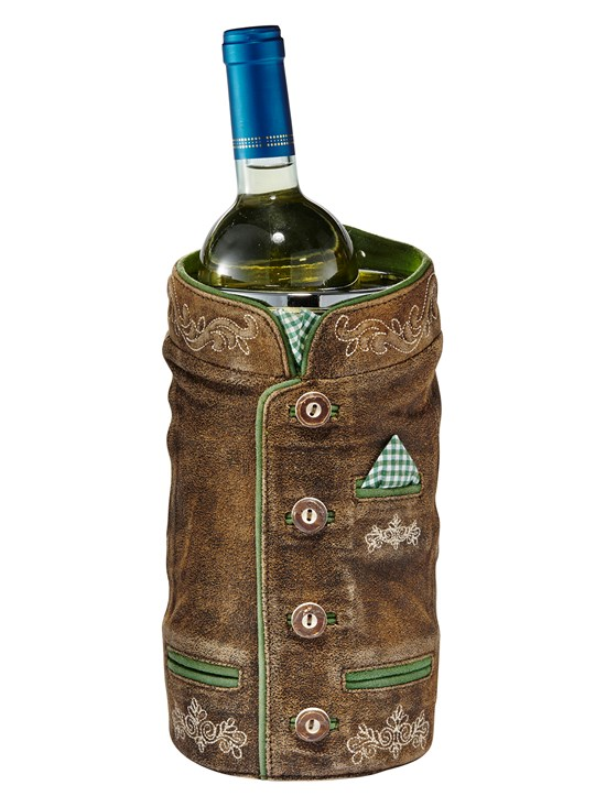 plaid jacket wine cooler