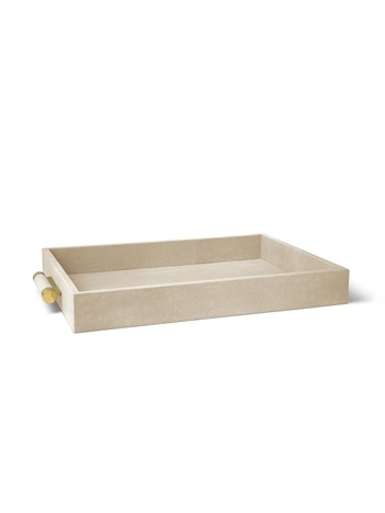 wheat classic shagreen serving tray