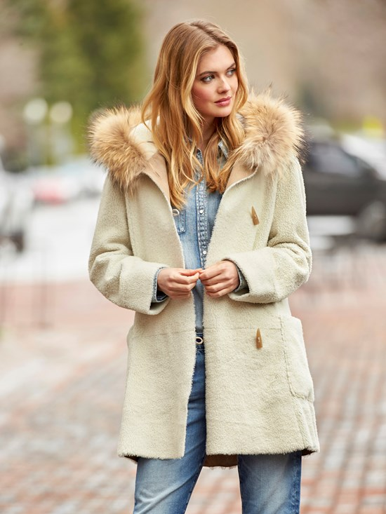 piera reversible shearling coat