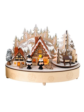 alpine village electric music box