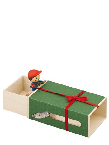 boy with a flower in the box