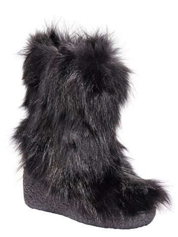 maida low faux fur boot