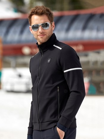 bastian fleece full zip midlayer jacket