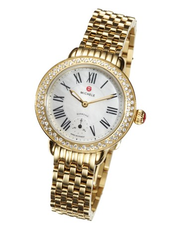 serein gold diamond dial watch