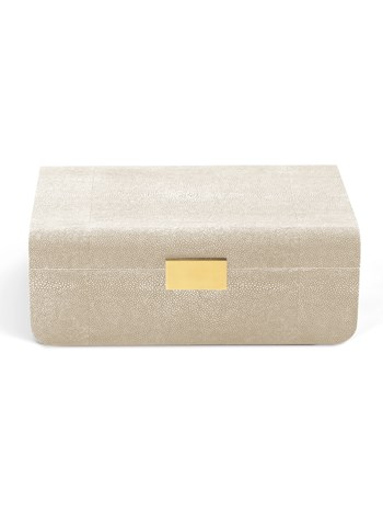 modern shagreen jewelry box large