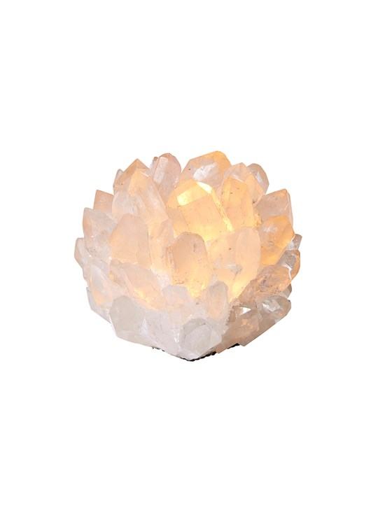 medium clear quartz votive