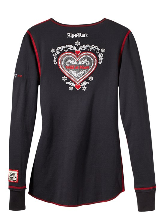 wild at heart aspen henley shirt