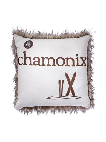 chamonix faux fur pillow