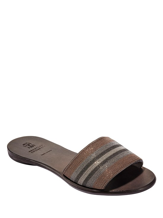 monili stripe slip on sandal