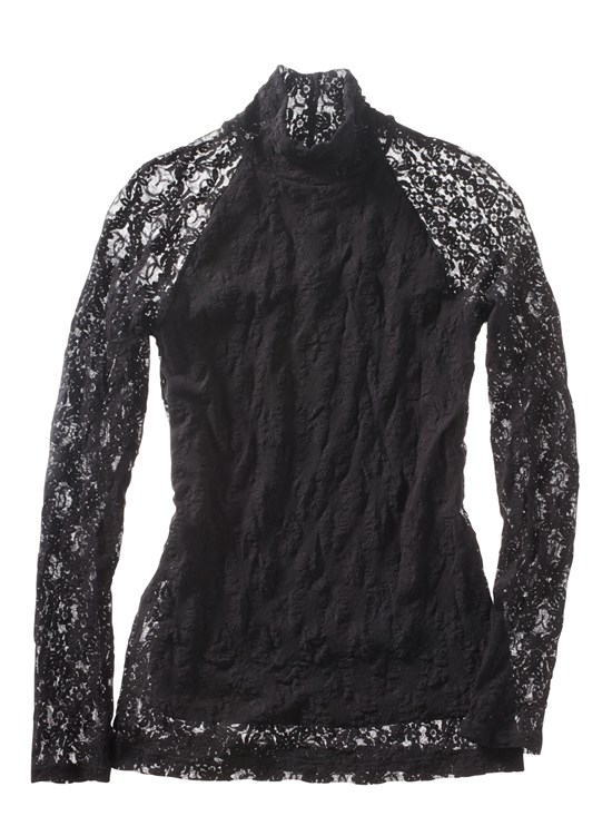 bailey stretch lace turtleneck
