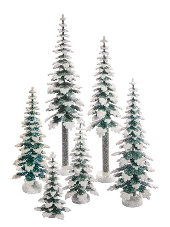 frosted tree set