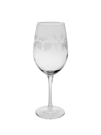 pine cone white wine glass
