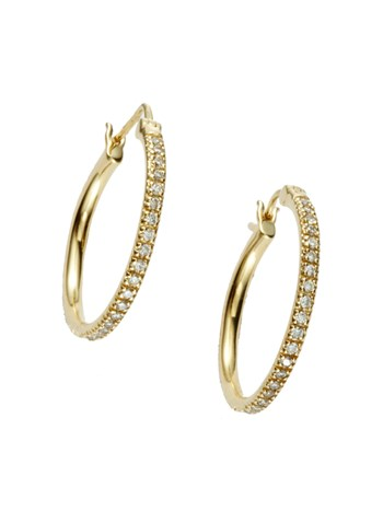 medium pave diamond hoop
