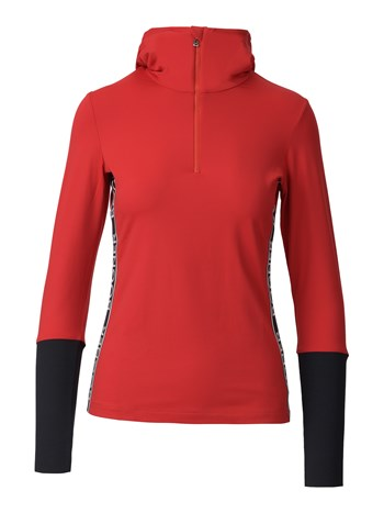 mya stretch quarter zip turtleneck