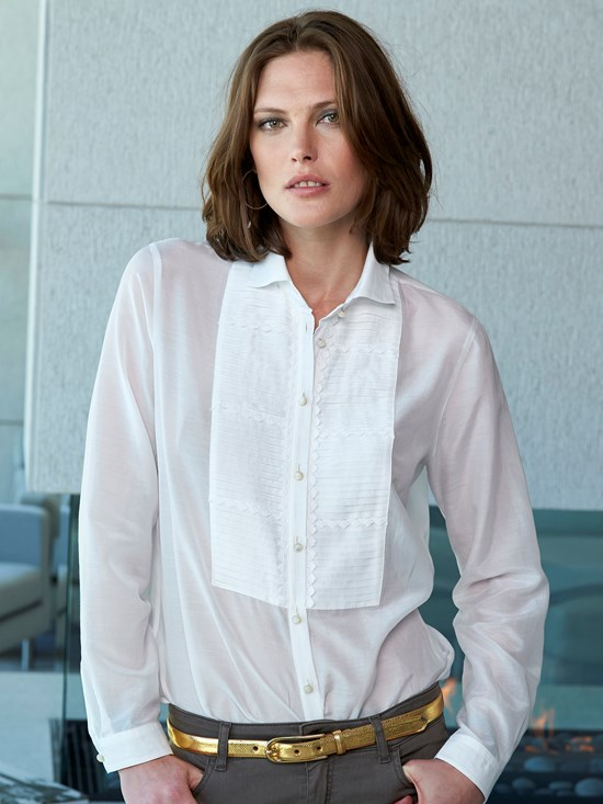 fabienne pleated blouse