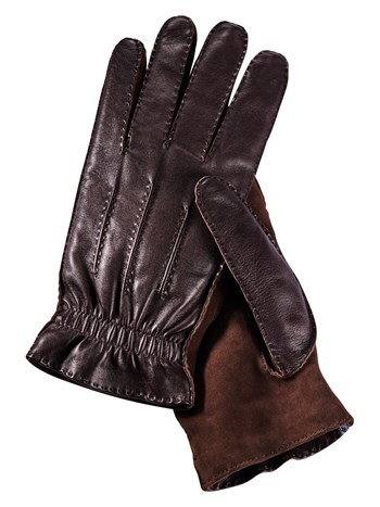 leather/suede cashmere lined glove