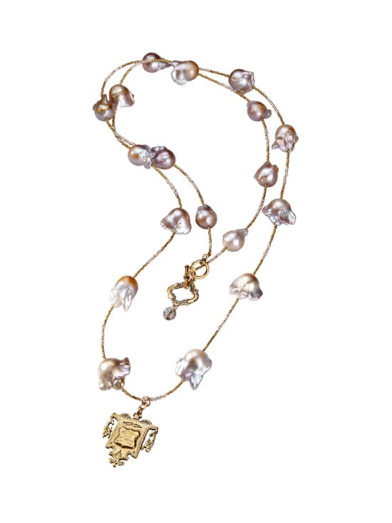 doris baroque pearl necklace