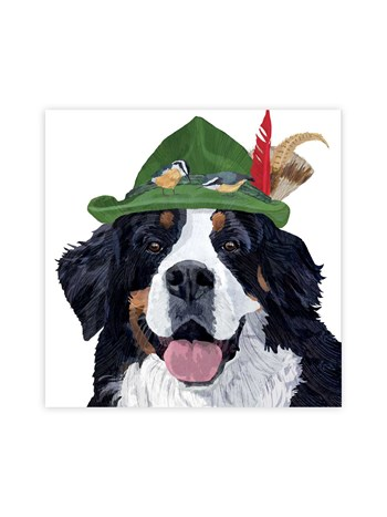 bernese mounain dog lunch napkins