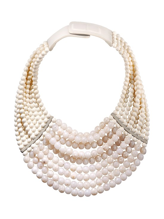 masai white necklace