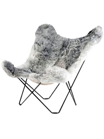 shearling grey chair