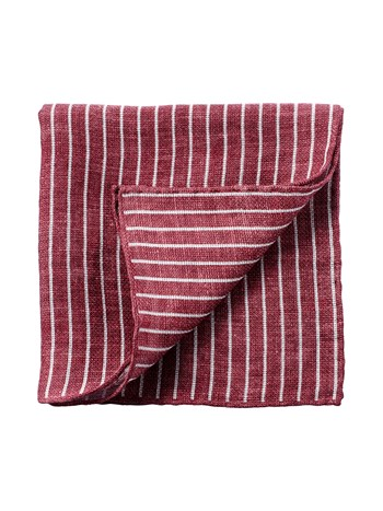 linen stripe pocket square