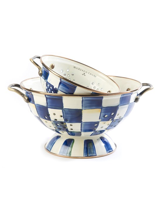 royal check large colander