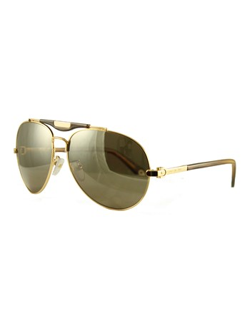 shiny gold sunglasses