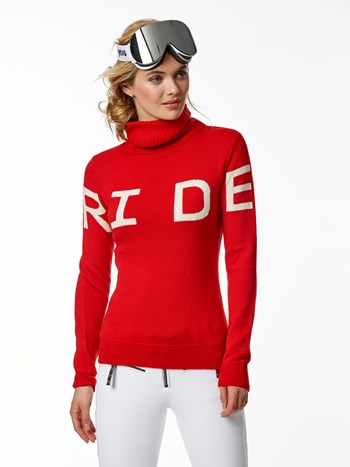 ride turtleneck ski sweater